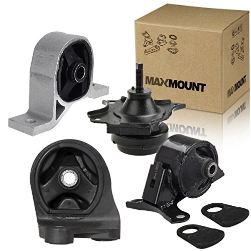 MAXMOUNT 4PCS Transmission Engine Motor Mounts A4511 A6588 A6591 A6595 For 2001 2002 2003 2004 2005 Honda Civic Acura EL 1.7L w/Auto Trans (2001 Civic Transmission Mount compare prices)