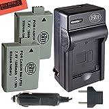 BM Premium 2 Pack of LP-E5 Batteries And Battery Charger Kit For Canon EOS Rebel XS, Rebel T1i, Rebel XSi, 1000D, 500D, 450D, Kiss X3, Kiss X2, Kiss F Digital SLR Camera