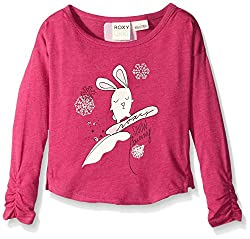 Roxy Little Girls' Lit Snow Bnny Long Sleeve Tee, Festival Fushion, 2