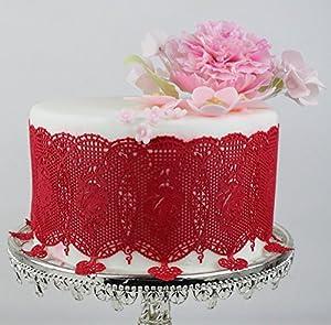 Art Deco Cake Lace Mat : Amazon.com: Art Deco Roses SLM07 Large Silicone Lace Cake ...