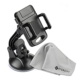 Etekcity 360 Degree Car Universal Holder Mount - Windshield Dashboard Cradle 2nd Generation with Sticky Gel Pad (Black)