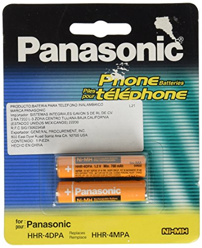 Panasonic NiMH AAA Rechargeable Battery for Cordless Phones (HHR-4DPA) (550 Panasonic compare prices)