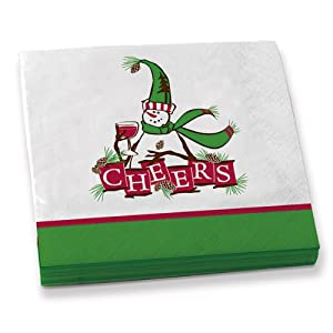 Frosty Cheers Beverage Napkins - Pack of 20