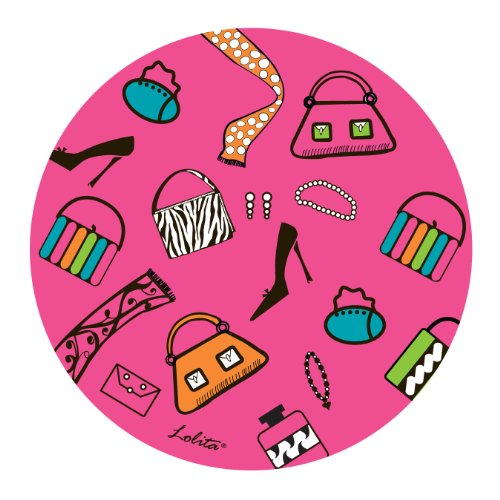 Lolita Melamine Shopaholic Too 4-Inch Coasters, Set Of 4 front-983079