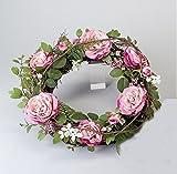 Türkranz Wandkranz Wanddeko Wandschmuck Deko Tisch Frühlings Blumen Oster Kranz