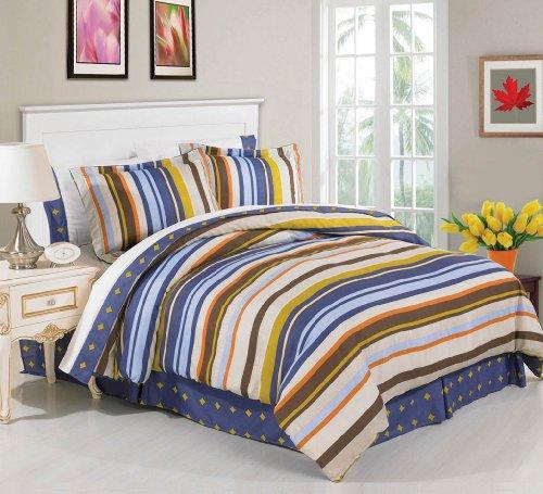 Luxury Home 8-Piece Murray Bed-In-Bag Set, Queen front-1037657