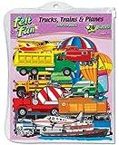 Trucks, Trains & Planes Pre-Cut Feltboard Set