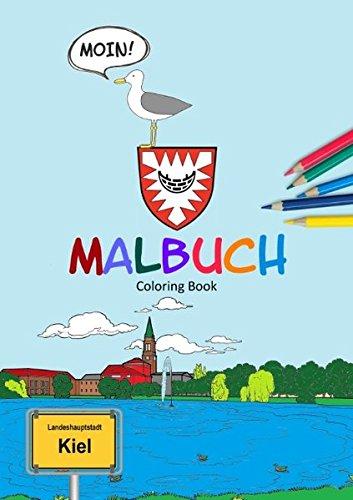 Buchcover: Das Kiel Malbuch: Unsere Landeshauptstadt zum Ausmalen