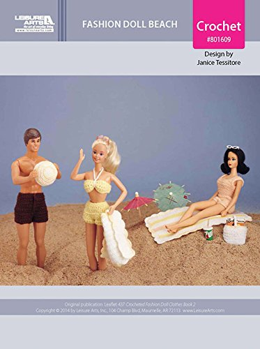 Fashion Doll Beach Outfits & Accessories Crochet ePatterns