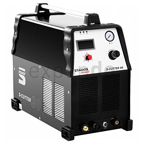 Stamos-Power-S-CUTTER-90-Plasmaschneider-Schneidstrom-bis-90-Ampere-Schneidleistung-von-25-mm-60-Einschaltdauer-stufenlos-einstellbarer-Schneidstrom-HF-Zndung