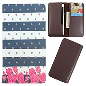 DooDa - For iBall Andi 4F Waves PU Leather Designer Fashionable Fancy Case Cover Pouch With Card & Cash Slots & Smooth Inner Velvet