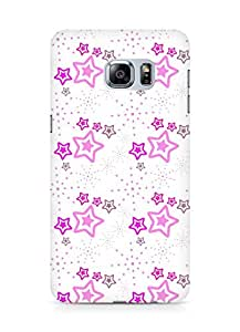 Amez designer printed 3d premium high quality back case cover for Samsung Galaxy S6 Edge Plus (Star pink surface texture)