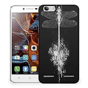 Snoogg Dragonfly Designer Protective Phone Back Case Cover For Lenovo K5 Vibe