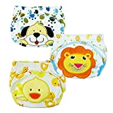 Losorn (TM) 3 pcs Baby Baby Kids Potty Training Pants Washable Cloth Diaper Nappy Underwear (X-Large, A2)