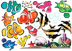 Amazon.com - Tropical Fish Nursery/Kids Room Wall Art Sticker Decals - Childrens Wall Decor