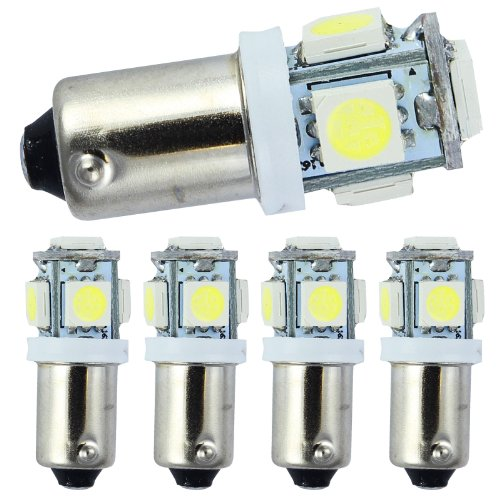 Quickfitled (5 Pieces) Direct Fit White 5-Smd Car Led Bulb For Ba9 53 57 1895 64111, Dome Map Trunk