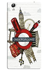 Omnam London Beauty Printed On Undeground Metro Logo Desinger Back Cover Case For Vivo Y51 L