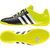 Adidas Ace 15.4 In Football Shoes ( Turf/Indoor)- Sea Black/Ft White/Syellow