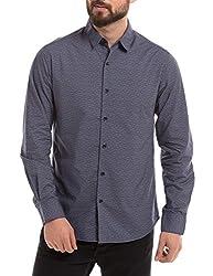 Shuffle Men's Casual Shirt (8907423018761_2021514801_Small_Navy)