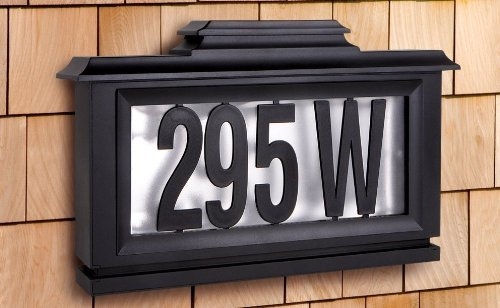The Black Series Solar-powered Lighted Address Stake Home Garden Decor Signs
