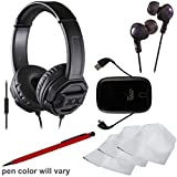 JVC HA-SR50X XTREME XPLOSIVES On-ear Headphones With Remote & Mic (Black) With Ear Buds + Portable Power Pack...