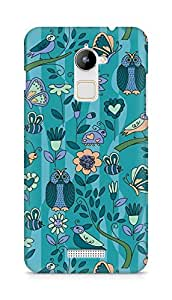 Amez designer printed 3d premium high quality back case cover for Coolpad Note 3 Lite (pattern owl greenary)