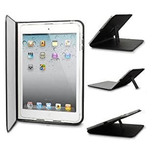KaysCase SlimFolio Cover Case with Stand for Apple iPad Mini - 3 Years Warranty (Black)