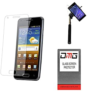 DMG Pack of 10 Tempered Glass for Samsung NOTE edge (N9150) + Selfie Stick Monopod with Aux (No Battery Needed)