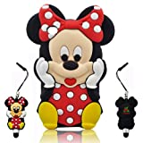 3D Cartoon Minnie Soft Silicone Skin case cover for IPod Touch 4/4G/4th generation + 3D Minnie STYLUS PEN with Anti Dust Plug
