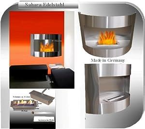 Gel und Ethanol Kamin Sahara  Regulierbarer EdelstahlBrenner  Wählen Sie aus 5 Farben (Edelstahl)   Bewertungen und Beschreibung