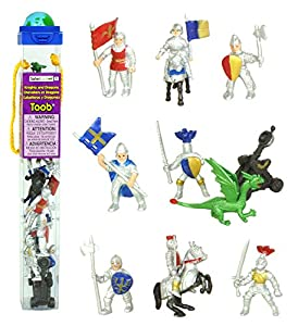 Safari Toobs Knights and Dragons Miniature Replica Set