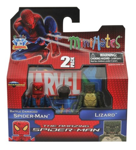 Marvel Minimates Amazing SpiderMan Movie Series 46 Battle Damaged SpiderMan Lizard - 1