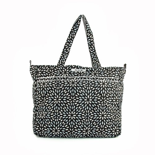 Ju-Ju-Be Super Be Zippered Tote Diaper Bag, Platinum Petals