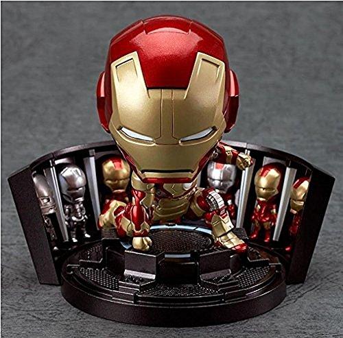 Monkey King Nendoroid Marvel Iron Man 3 Mark Mk 42 Tony Stark Hero'S Edition + Hall Of Armor Set Action Figure New In Box (Iron Man Cosplay Armor)