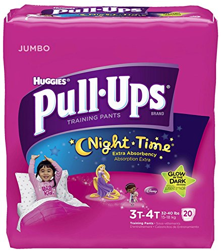Huggies Pull-Ups Nighttime Training Pants - Girls - 3T-4T - 20 ct - 1