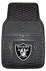FANMATS NFL Oakland Raiders Vinyl Heavy Duty Vinyl Car Mat by Fanmats