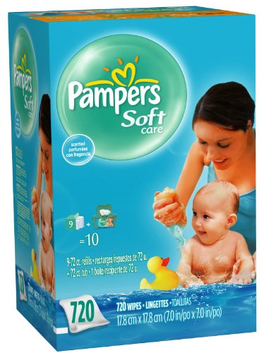 Pampers Soft Care Baby Wipes Refill 720ct. --