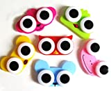 ANIMAL CONTACT LENS CASE NOVELTY BIG EYES KIDS COLOURFUL CONTACTS CASE FROG TEDDY OWL ETC