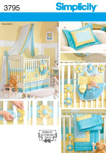 Simplicity Sewing Pattern 3795 Home Decorating, One Size (Baby Crib Bedding Sewing Patterns compare prices)