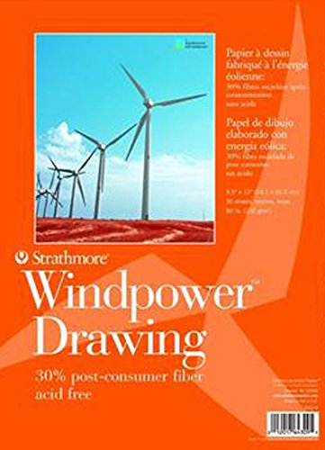 Strathmore STR-643-9 No.80 Wind Power Drawing, 9.5