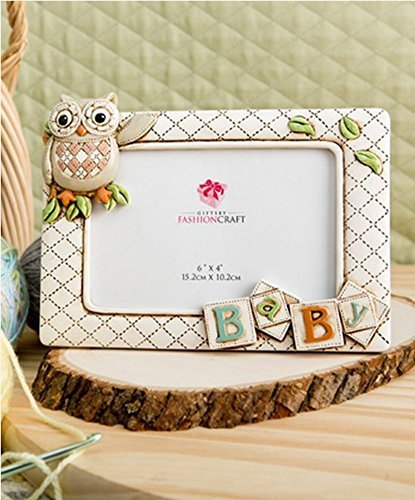 "Baby Owl Picture Frame Horizontal 3d (8"" X 6"" Holds a 6"" X 4"" Picture) From Gifts By Fashioncraft"