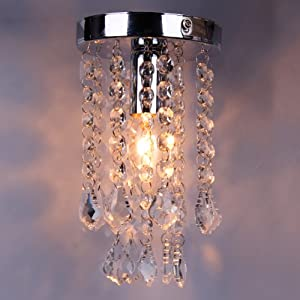 BEIYI R0818 Modern Crystal Droplets Ceiling Pendant Light Silver Chrome Chandelier Fitting by BEIYI HOME