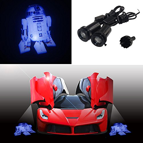 TSHE Star Wars 3D R2-D2 R2 Robot Car Door step CREE 3W LED logo shadow courtesy welcome light laser projector projection ghost light lamp