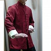 龍模様・長袖リバーシブル・ジャケット エンジ XL