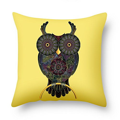 Beautfuldecor Home Decoration Fancy Owl Pillowcase 16X16 Inch Throw Cushion Cover