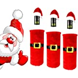 Generic HOT Red Wine Bottle Santa Claus Clothes Cap Suit Cover Christmas Table Home Decor 91PD