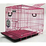 Pet Tek DPK86012 Dream Crate Professional Series 200 Dog Crate with Mesh Floor, 24 by 18 by 20-Inch, Pink