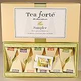 Tea Forte Ribbon Box - 20 Silken Pyramid Infusers - White Ginger Pear