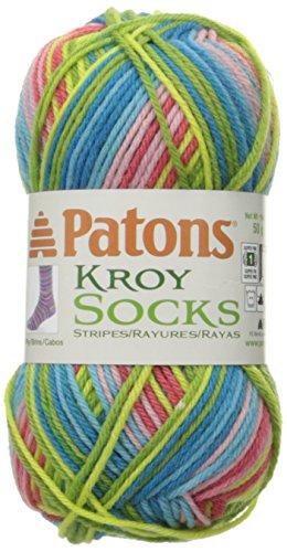 Spinrite Kroy Socks Yarn, Meadow Stripes