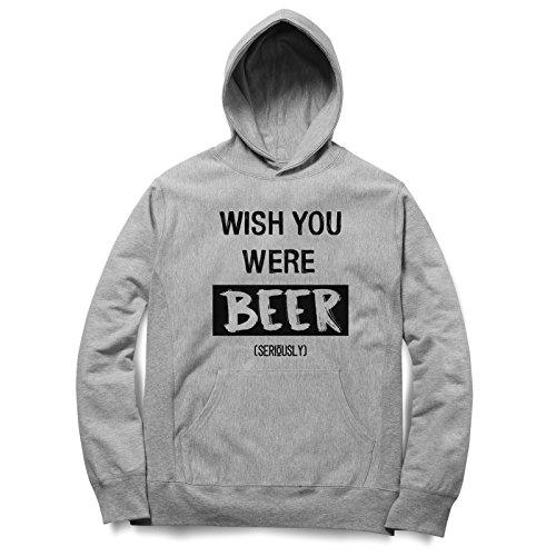 Wish You Were Beer Seriously Felpa Con Cappuccino / Hoodie Unisex Spedizione Veloce / S M L XL XXL dimensioni